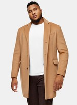 TopmanTopman BIG & TALL Camel Single Breasted Jacket With Wool*