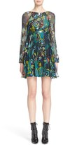 Versace Women's Print Georgette Silk Dress