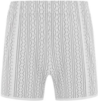 Maxibillion Hugh Comfort Mesh Lounge Shorts White / Black