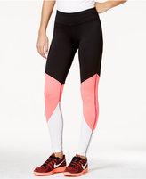 Material Girl Juniors' Colorblocked Leggings, Only at Macy's
