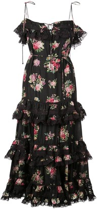 Zimmermann Honour floral print tiered dress