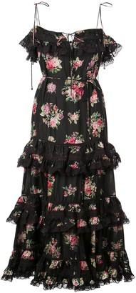 Zimmermann Honour floral print tiered dress