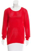 Sandro Open Knit Rib Knit Sweater
