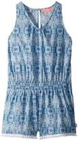 Seafolly Boho Tile Fringing Jumpsuit Cover-Up Girl's Jumpsuit & Rompers One Piece