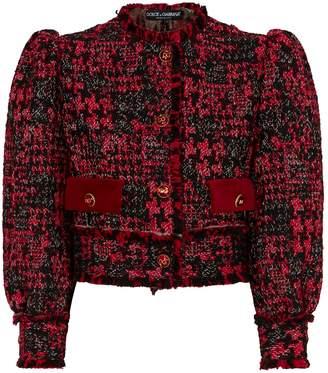 Dolce & Gabbana Knitted Crop Blazer