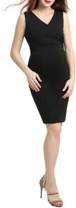Kimi and Kai Melanie Body-Con Maternity Dress