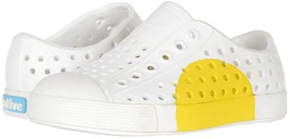 Native Jefferson Block (Toddler/Little Kid) (Shell White/Shell White/Crayon Circle) Kids Shoes