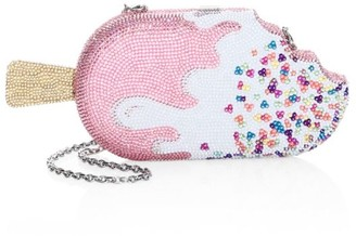 Judith Leiber Couture Strawberry Drip Popsicle Crystal Clutch