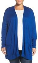 Sejour Plus Size Women's Rib Waist Cardigan