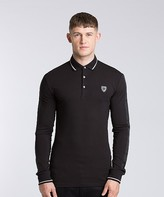 Antony Morato Grain Long Sleeve Polo Shirt