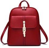 Hynbase Women Fashion Casual Cute Leahter Backpack Shoulder Bag