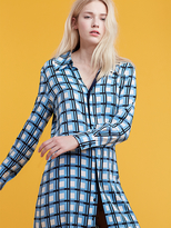 Diane von Furstenberg Long Sleeve Shirtdress