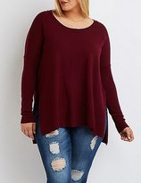 Charlotte Russe Plus Size Oversized Drop Shoulder Sweater