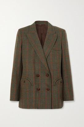 BLAZÉ MILANO Drum Beat Everynight Checked Wool Blazer - Army green