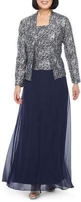 Jackie Jon Long Sleeve Sequin Jacket Dress