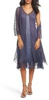 Komarov Women's Embellished Dress & Shawl