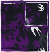 McQ by Alexander McQueen Swallow print scarf - women - Modal - One Size