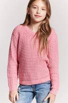 Forever 21 Girls Ribbed Knit Top (Kids)