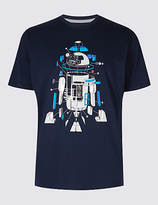 M&S Collection Pure Cotton Crew Neck Star WarsTM T-shirt