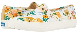 Keds Double Decker Lively Floral (White Printed Canvas) Women's Shoes