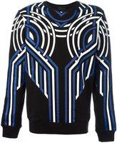 Les Hommes spiral graphic sweatshirt