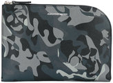 Alexander McQueen camouflage clutch - men - Leather - One Size