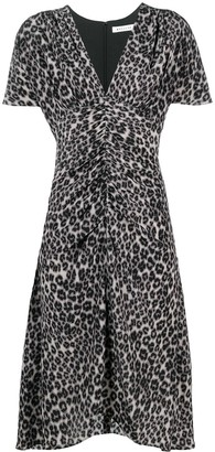 Masscob Leopard-Print Midi Dress