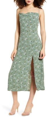 Leith High Slit Sleeveless Midi Dress