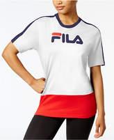 Fila Reba Cotton Colorblocked T-Shirt
