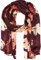 Vince Camuto Brushed Floral Oblong Scarf Scarves