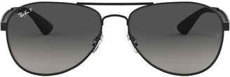 Ray-Ban 61mm Gradient Polarized Aviator Sunglasses