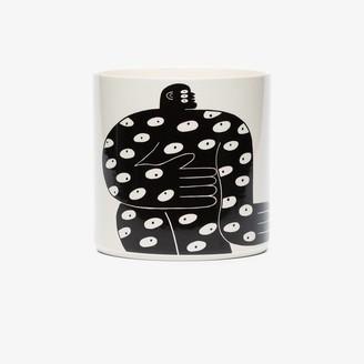 Louise Madzia White All Eyes porcelain plant pot