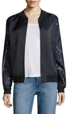 Opening Ceremony Reversible Night Sky Silk Bomber Jacket