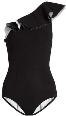 Lisa Marie Fernandez Arden Flounce Bonded Swimsuit - Womens - Black