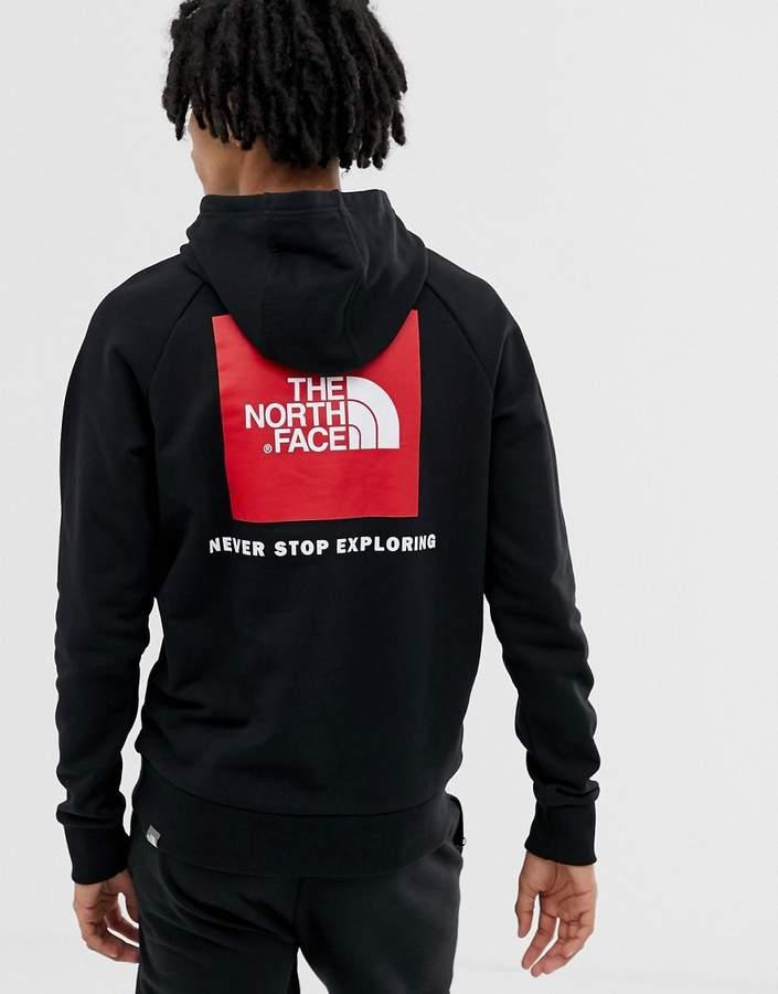 d883bdf78 Raglan Red Box hoodie in black