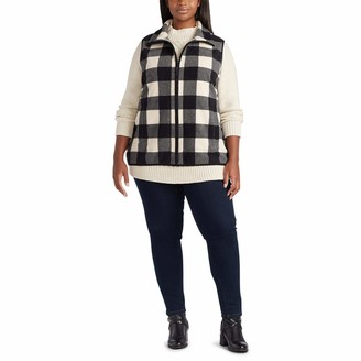 Chaps Women's Fleece Lined Sherpa Full Zip Vest