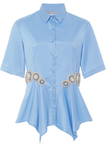 Clover Canyon Sky Embellished Handkerchief Shirt