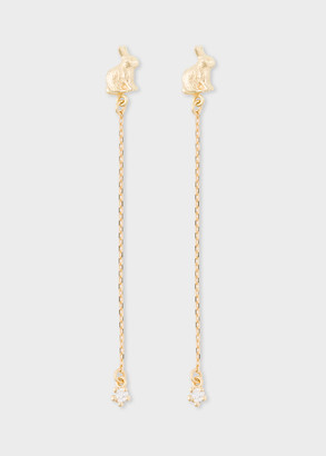 Alex Monroe + Paul Smith - 18ct Gold 'Bunny' And Diamond Chain Drop Earrings