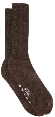 Falke Walkie Ergo Wool-blend Socks - Dark Brown