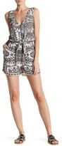 Lucky Brand Medallion Print Tie Front Romper