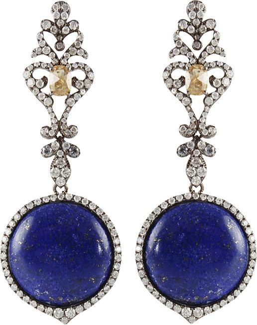 Lapis BOCHIC and Diamond Drop Earrings