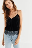 Urban Outfitters Lara Velvet + Lace Cami