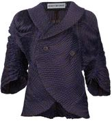 Issey Miyake shawl double-breasted jacket
