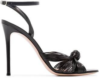 Gianvito Rossi Knot-Front 105mm Sandals