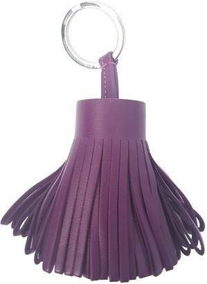 Hermes Carmen Purple Leather Bag charms