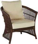 GLOBE WEST Armchairs Rumba Cape Rattan Occasional Chair