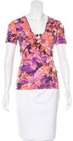 Just Cavalli Embellished Floral Print T-Shirt