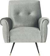 Safavieh Light Gray Mira Faux Leather Accent Chair