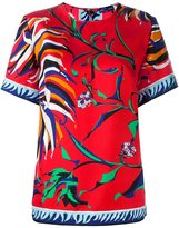 Emilio Pucci floral print T-shirt - women - Silk - 38