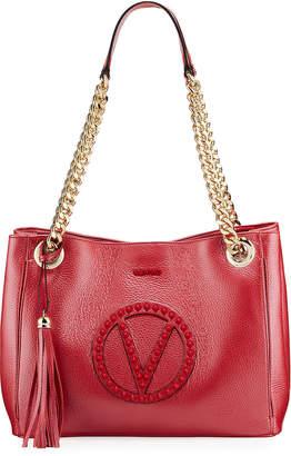 Mario Valentino Valentino By Luisa Sauvage Quilted Logo Shoulder Bag